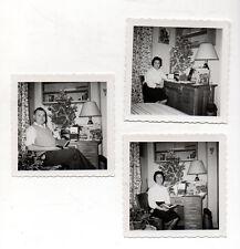PHOTO ANCIENNE - Sapin de Noël Fête Décoration de Noël  -1961 - Tirage d'époque