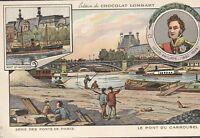chromo chocolat  lombart- pont de paris / pont du carrousel
