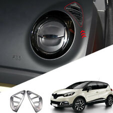 For Renault Captur 2013 - 2018 ABS Matte Inner Upper Air Vent Outlet Cover Trim