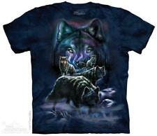 The Mountain Unisex Adult Wolf Pack Animal T Shirt Large 1059152