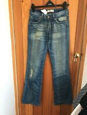 levis 572 distressed washed blue bootcut jeans 28 waist 34 leg new unworn