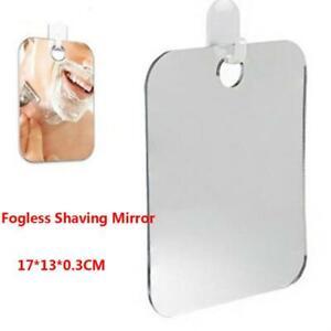 Anti-Fog Shower Mirror Fogless Shaving Shave Mirror Bathroom Travel 17X13cm