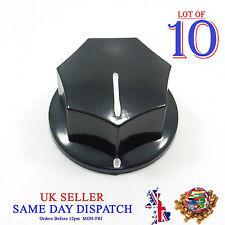 10x Push on Knob for Potentiometer Plastic Cap 33mm