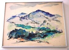 MOUNTAIN LANDSCAPE Painting Signed Listed AIKEN
