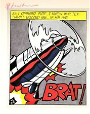 ROY LICHTENSTEIN HAND SIGNED SIGNATURE * AS I OPENED FIRE, PANEL I * PRINT