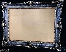 Marco Barroco Negro Oro Con Vidrio Marco De Boda ANTIGUO 90x70 Grande mg