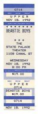 Beastie Boys Ticket 1992 Nov 18 The State Palace New Orleans Unused