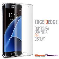 Pellicola Curva Copertura BORDI per Samsung Galaxy S7 Edge G935 Display Silicone