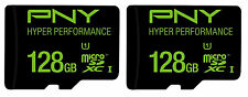 2 x PNY 128GB micro SD XC Class 10 UHS-I/U1 Memory Card P-SDUX128U165G-GE