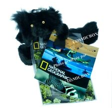 Porte-clés NATIONAL GEOGRAPHIC peluche LEMUR NOIR MACAO lémurien animaux queue