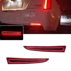 For Cadillac ATS XT5 Chevy Camaro Rear Bumper Reflector Lights Red LED Lamps Kit