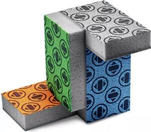 Skura Style Dish Sponge(Set of 4)Non~Abrasive Scouring Pad w/Fading Monogram NIP