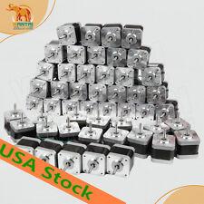 US FREE Wantai 50 pcs Nema17 42BYGHW609L20P1 56OZ-IN,1.7A D-shaft Dual connector