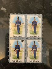 Saint Lucia £15 Royal Reg Of Artillery Stamp U/M Bulk 4