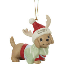 PRECIOUS MOMENTS Dated 2020 DOG Ornament DACHSHUND Through The Snow NEW 201008