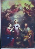 ::HEILIGE JESUS 6 MARIA DRUCK RAHMEN ANTIK VINTAGE RETRO KUNST °KUNSTDRUCK 70/50