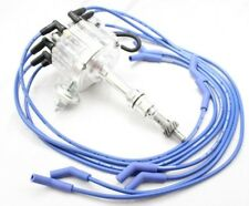Clear HEI Distributor Coil Blue 8.5mm Spark Plug Wires 1977-82 Ford 351M 400 V8