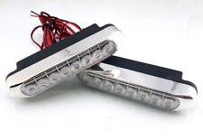 DRL Daytime Running Lights HIGH POWER 8 LED Day Fog Lamps 10cm Long 2pcs Kit