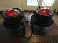 ANTIQUE PYLE NATIONAL RAILROAD CABOOSE ELECTRIC LIGHT w/MOUNTING BRACKET  TSL85X