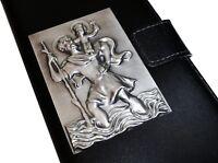 Sankt Christophorus 3D Relief Metall Plakette St. Christopherus Emblem 6,5 cm