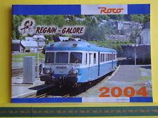 Catalogue ROCO 2004 F Matériel Français Regain Galore + moteurs HO N - Neuf 24 p