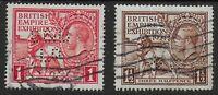 "PERFINS-SG430/1. 1924 Wembley Pair FU.  1d.-""S&B/LD"". 1&1/2d.""W & Co"".  Ref.1184"