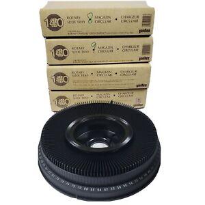 Lot of (3) Kodak Carousel Transvue140 Projector Slide Trays w/ boxes