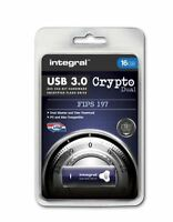 Integral 16GB CRYPTO DUAL USB 3.0 Encyrpted Flash Drive with FIPS 197 Security.