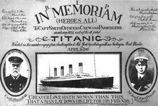 TITANIC 8X10 PHOTO RMS IN MEMORIAM R.I.P. CRUISLINER SHIP PICTURE