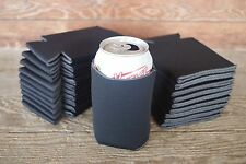 Lot of 24 Black Can Blank Beer Soda Coolers Koozies 12 oz Printable Holders