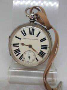 Antique solid silver gents fusee E. Wise Manchester pocket watch 1890 W/O re1510