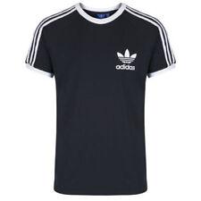 Camisetas de hombre de manga corta azul de algodón orgánico