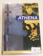 3 slips neuf taille 10-12 ans marque ATHENA Pulse (noir/pétrole/gris)