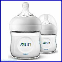 Philips Avent Natural Newborn Baby Feeding Bottles 2 x 125 Wide Neck Anti Colic