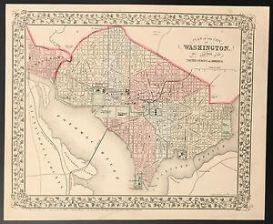 """Map of the City of Washington"" Mitchell 1870"
