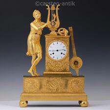Große Exquisite Pariser Empire Bronze Pendule 'Le Roy Horloger du Roi' 1815