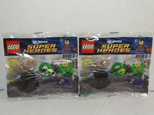 Lot of 2 Lego DC Universe Super Heroes Lex Luthor Armor Kryptonite 30164 New!