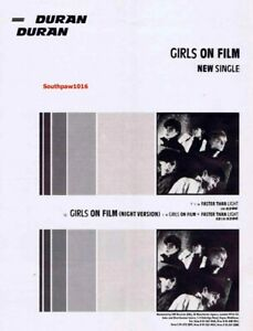 """1981 Duran Duran """"Girls On Film"""" Song Release Reproduction Promo Print Ad"""