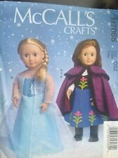 Mccalls Pattern M7065 Disney Frozen Anna Elsa Dolls Clothes
