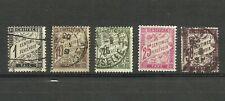 Francia, Taxe, lote de 5 sellos usados