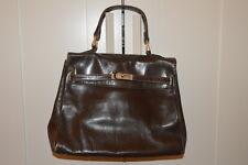 Borsa vintage marrone stile kelly brown handbag kelly style