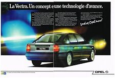 PUBLICITE ADVERTISING 1989   OPEL  VECTRA 2.0I