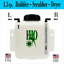 1.5 Quart HHO Bubbler Reservoir Left or Right Output