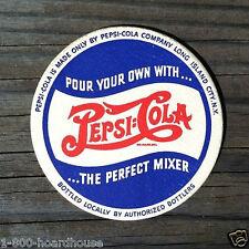 2 Vintage Original 1930-40s PEPSI COLA Drink Coasters DOUBLE DOT Coaster NOS