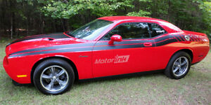 For 2008-2010 Dodge Challenger Dual & Strobe Side Stripes decals bodyline