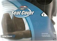 2 NEW UNIVERSAL BUCKET SEAT COVERS CAR TRUCK SOFT VELVET ROYALE BLACK PREMIUM!!!