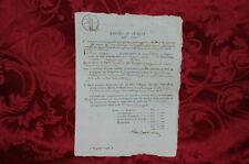 Regno d'Italia Dipartimento del Reno 1814 Rescissione di Contratto di Affitto