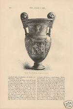 1888 Vase Decoration Greek Vases vintage article
