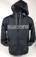 Burton Jacket Mens S Black Hoodie Sweatshirt Dryride Snowboard Ski Full Zipper