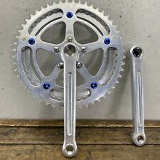 Vintage 1pc Crank set  52T//40T double chain ring for Road  8 Speed Bike steel